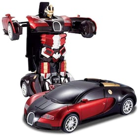 TULSI ENTERPRISE 1:14 Scale Remote Controlled One Button Car To Bugatti Style Transformer - Multi Color