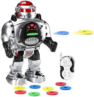 TULSI ENTERPRISE Remote Control Robot - Fires Discs, Dances, Talks - Super Fun RC Robot