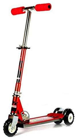 TULSI ENTERPRISE Big Size Skate Scooter for Kids with 3 Wheels and 3 Position Adjustable Height (Red)