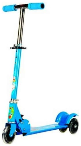 TULSI ENTERPRISE Big Size 3 Wheeler Scooter For Kids With Wide Foot Space To Ride Ons With Brake & Bell/Scooter For Children Age Between 2.5 To 10 Years