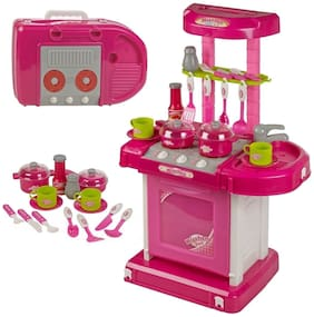 TULSI ENTERPRISE Luxury Battery Operated Kitchen Set With Lights, Sound and Carry Case