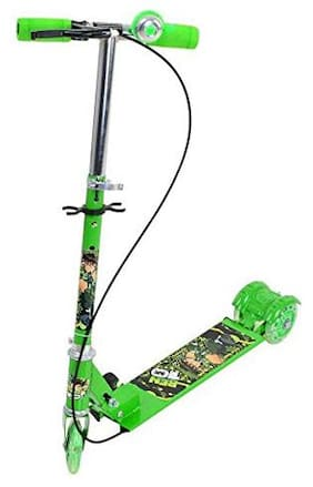 TULSI ENTERPRISE Kids Foldable 3 Wheel Scooter Cycle with Bell and Hand Brake  (Green)