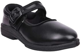 Twin Birds Black Girls School shoes