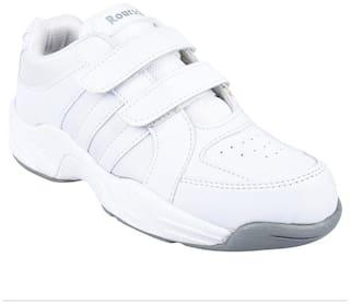 Twin Kids Roursch school uniform shoe TRH-41010- white velcro for boys and girls( unisex)