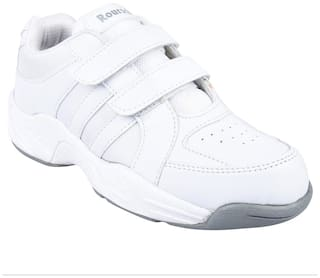Twin White Boys School Shoes