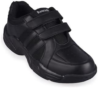 E-Lyte Black Boys School Shoes
