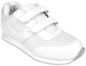 Twin White Boys School Shoes