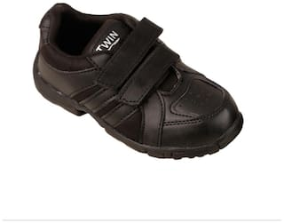 Twin Black Boys School Shoes