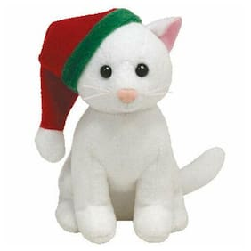 TY Holiday Baby Beanie - TWINKLING the White Cat (4 inch) - MWMTs Ornament Toy