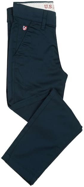 U.S. Polo Assn. Boy Solid Trousers - Blue