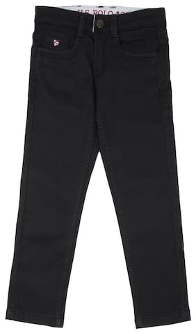 U.S. Polo Assn. Boy Solid Jeans - Black