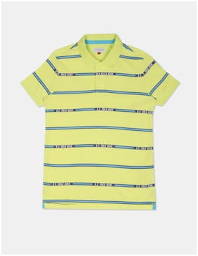 U.S. Polo Assn. Boy Cotton Striped T-shirt - Yellow