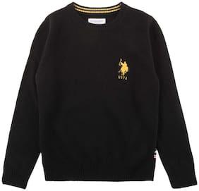 U.S. Polo Assn. Boy Wool Solid Sweater - Black