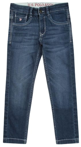U.S. Polo Assn. Boy Solid Jeans - Blue