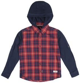 U.S. Polo Assn. Boy Cotton Solid Shirt Red