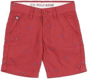 U.S. Polo Assn. Boy Printed Na - Red