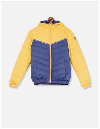 U.S. Polo Assn. Boy Nylon Colorblocked Ethnic jacket - Yellow