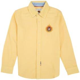 U.S. Polo Assn. Boy Cotton Solid Shirt Yellow
