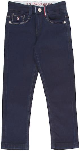 U.S. Polo Assn. Kids Boys Dark Wash Slim Fit Jeans