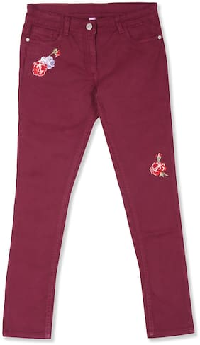 U.S. Polo Assn. Basic Slim fit Jeans for Girls - Red