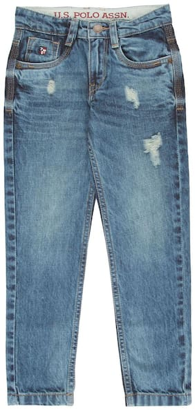 U.S. Polo Assn. Boy's Regular fit Jeans - Blue