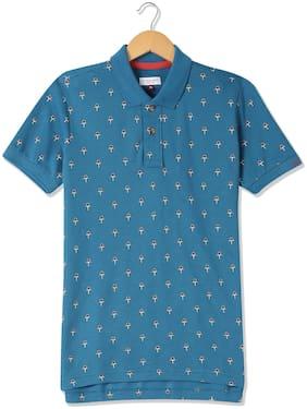 U.S. Polo Assn. Boy Cotton Printed T-shirt - Blue