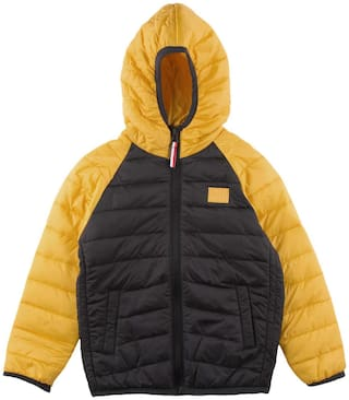 U.S. Polo Assn. Boy Polyester Colorblocked Winter jacket - Yellow