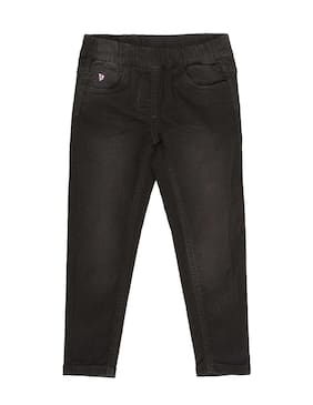 U.S. Polo Assn. Girl Cotton Trousers - Black