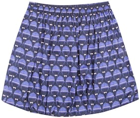 U.S. Polo Assn. Girl Cotton Printed Balloon skirt - Blue