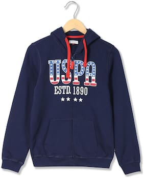 U.S. Polo Assn. Boy Cotton Printed Sweatshirt - Blue