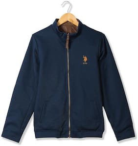 U.S. Polo Assn. Boy Polyester Colorblocked Winter jacket - Blue