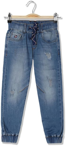 U.S. Polo Assn. Kids Boys Jogger Fit Distressed Jeans