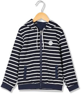 U.S. Polo Assn. Boy Polyester Striped Winter jacket - Blue