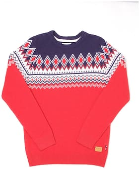U.S. Polo Assn. Boy Cotton Printed Sweater - Pink