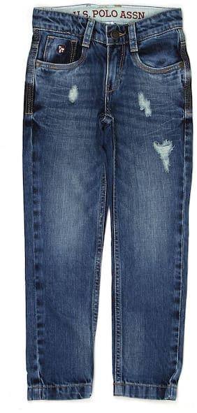 U.S. Polo Assn. Boys Solid Medium Blue Jeans
