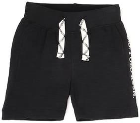 U.S. Polo Assn. Boys Black Melange Solid Shorts & 3/4ths