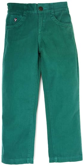 U.S. Polo Assn. Boy Solid Trousers - Green