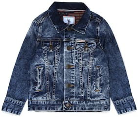 U.S. Polo Assn. Boy Denim Solid Winter jacket - Blue