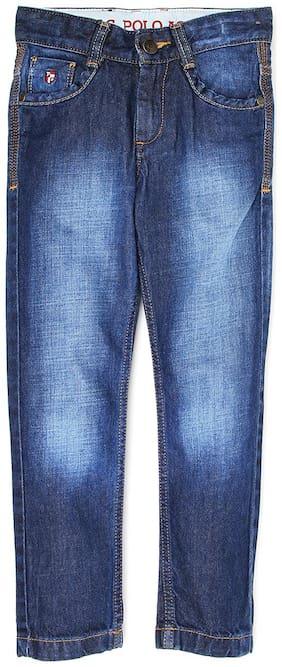U.S. Polo Assn. Boys Me. Blue Solid Jeans