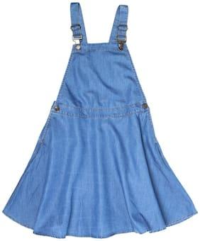 U.S. Polo Assn. Girl Cotton blend Solid A- line skirt - Blue