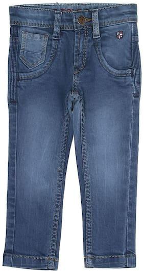 U.S. Polo Assn. Blue Solid Boys Jeans