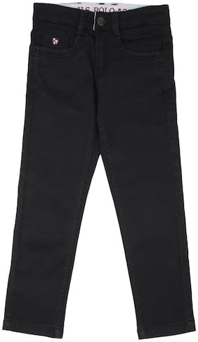 U.S. Polo Assn. Solid Black Casual Boys Jeans