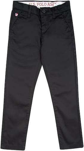 U.S. Polo Assn. Boy Solid Trousers - Black