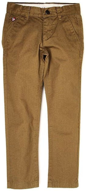 U.S. Polo Assn. Boy Solid Trousers - Brown
