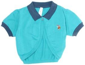 U.S. Polo Assn. Girl Cotton Solid Top - Green