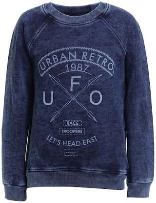 UFO Boy Wool Printed Sweatshirt - Blue