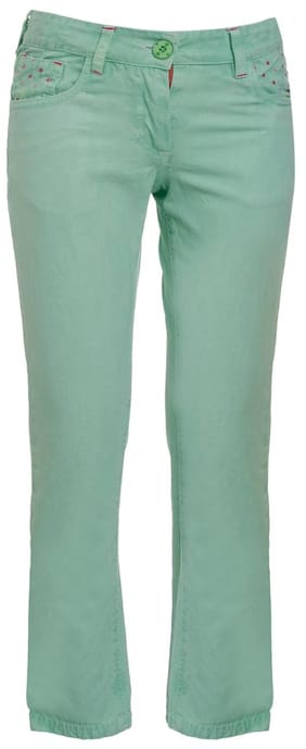 UFO Girl Blended Trousers - Green