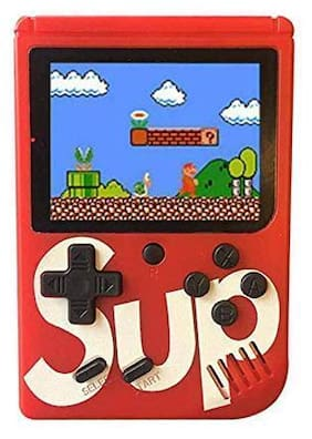 ULFAT Red Color Gems SUP 400 in 1 Games Retro Game Box Console Handheld Game PAD Gamebox (Batterry Included)