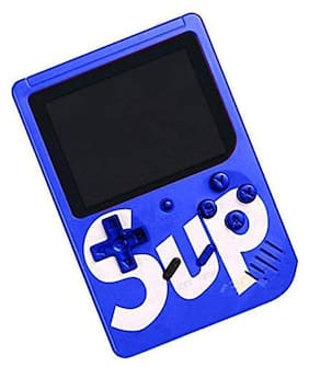 ULFAT Sup Game 400 in 1 Super Handheld Game Console, Classic Retro Video Game, Colorful LCD Screen, Portable, Best for Kids (Blue)