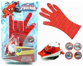 Ultimate Spiderman Gloves With Disc Launcher